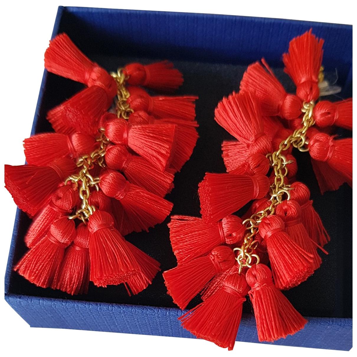 - Boucles doreilles   pour femme en verre - rouge