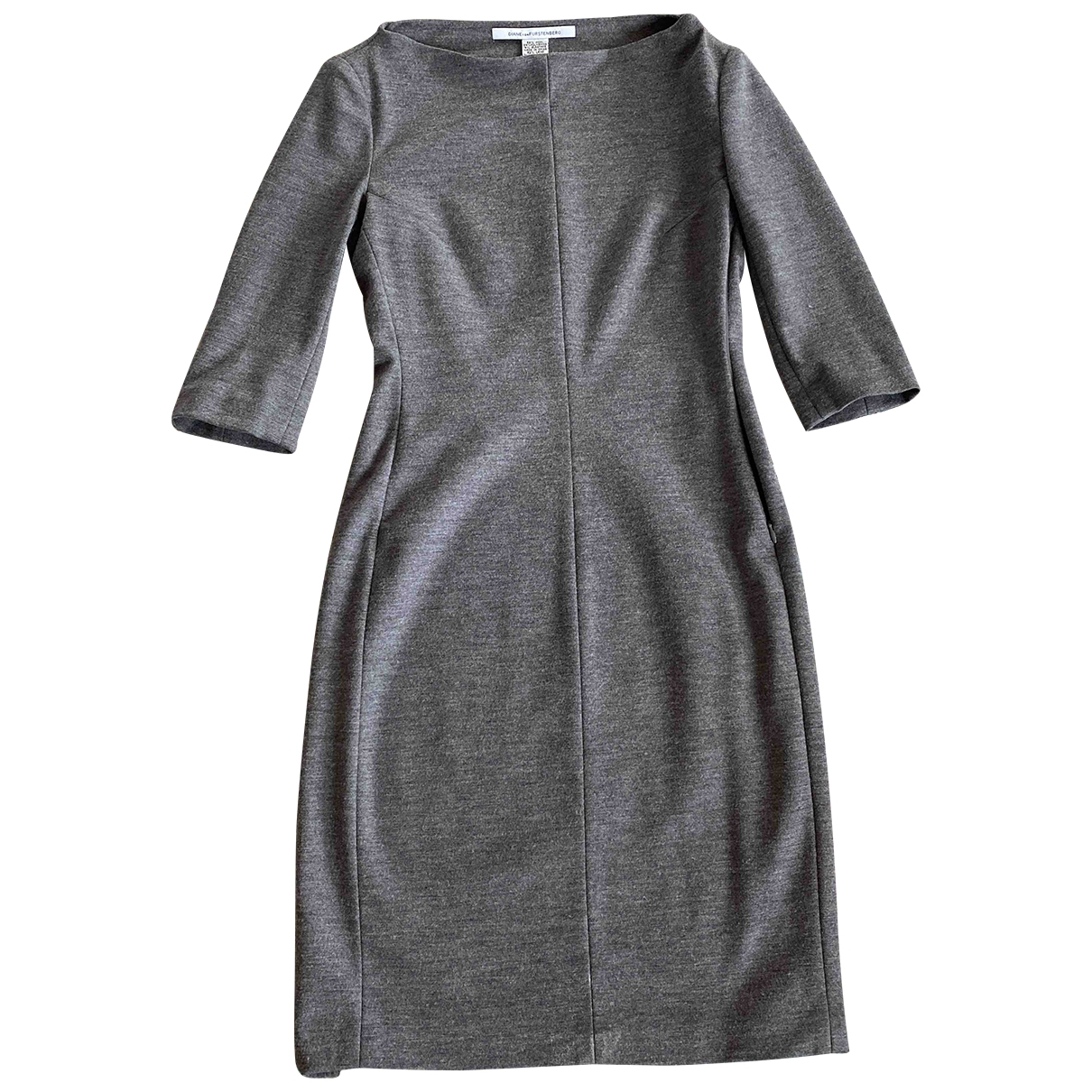 Diane Von Furstenberg - Robe   pour femme en laine - gris