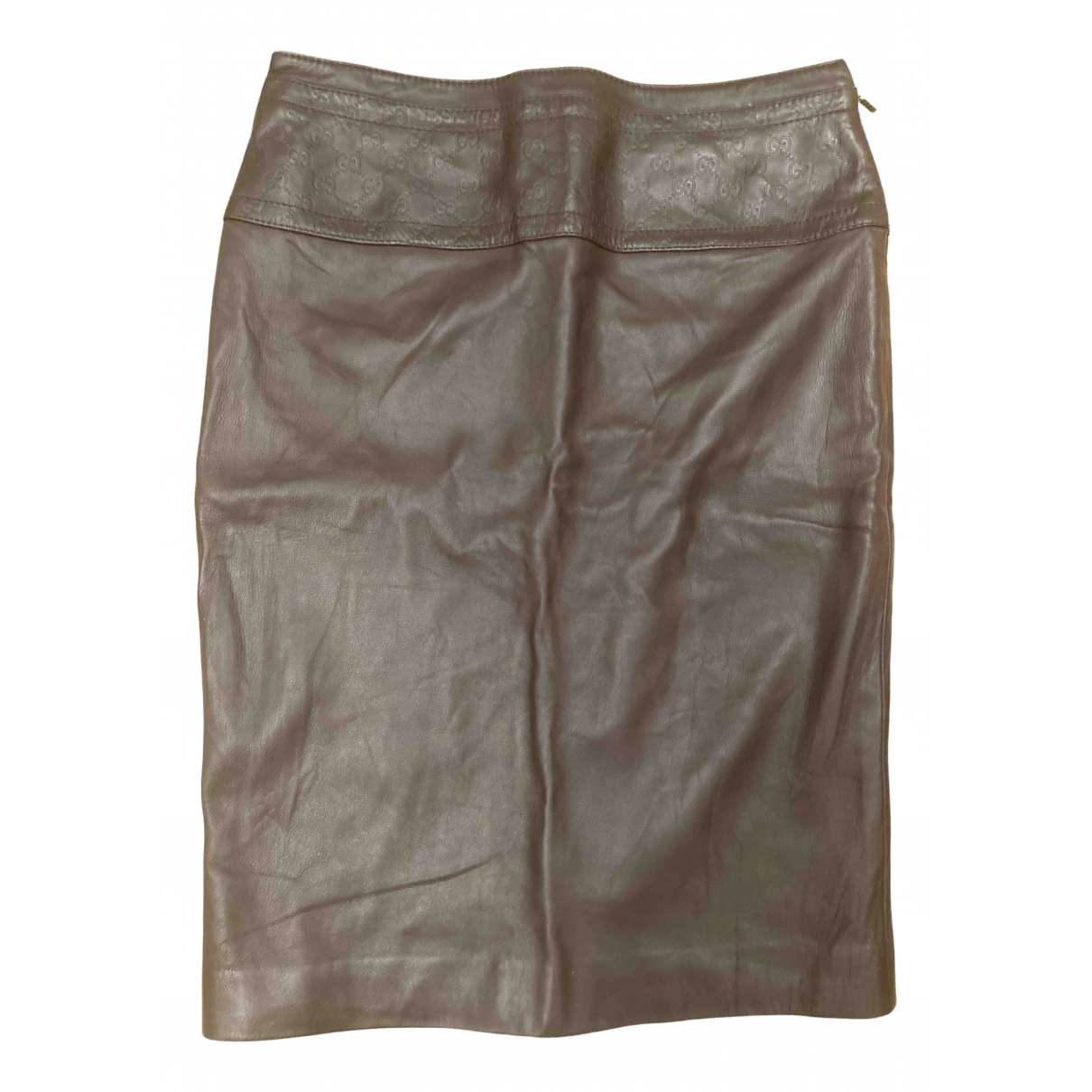 Gucci N Brown Leather skirt for Women 40 FR