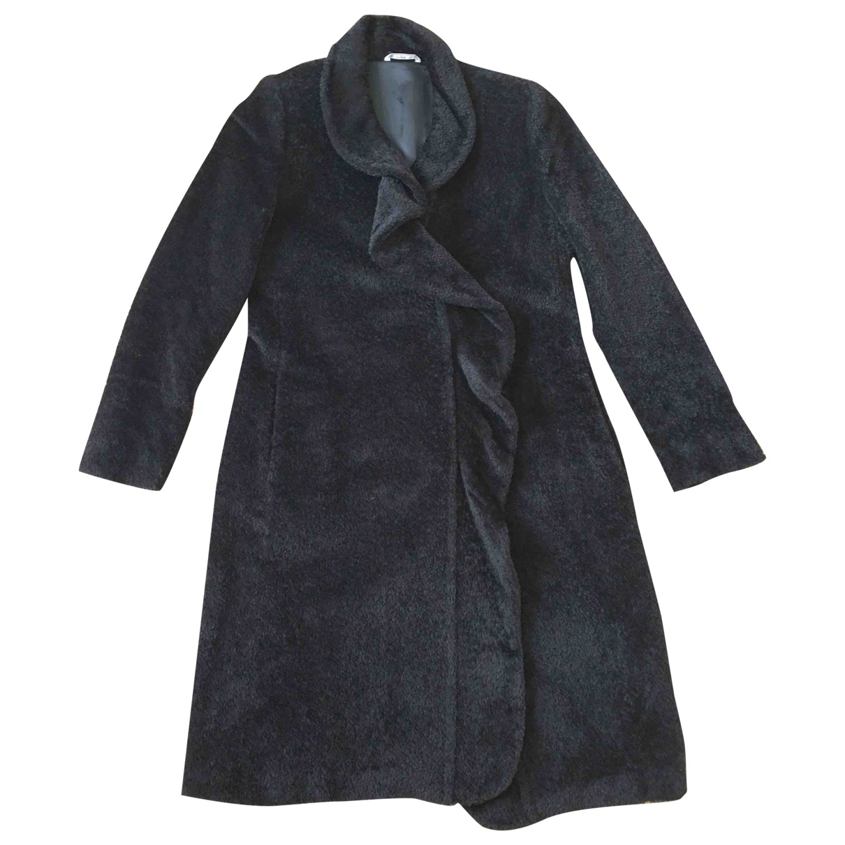 Max Mara \N Black Wool coat for Women 44 IT