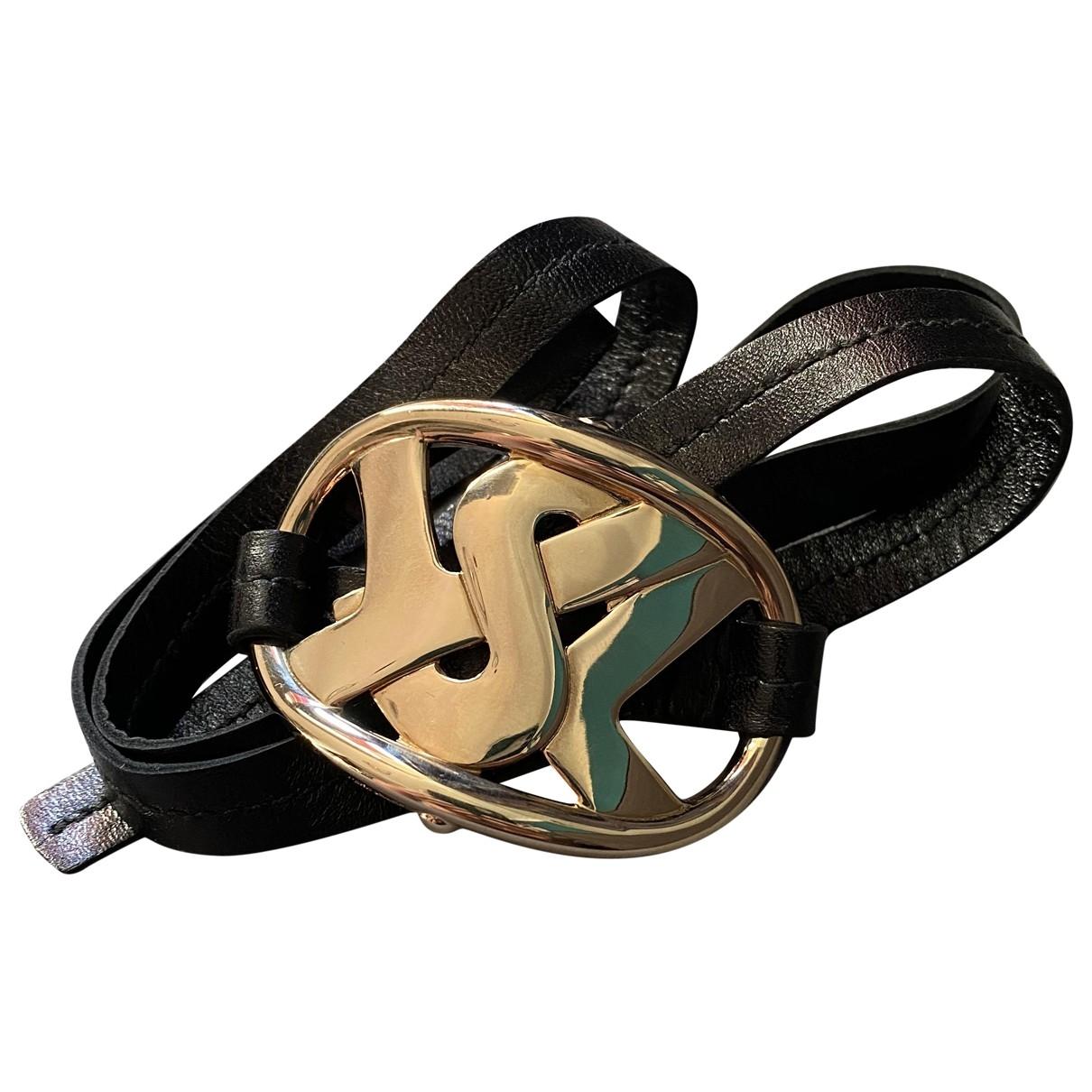 Yves Saint Laurent \N Armband in  Gold Leder