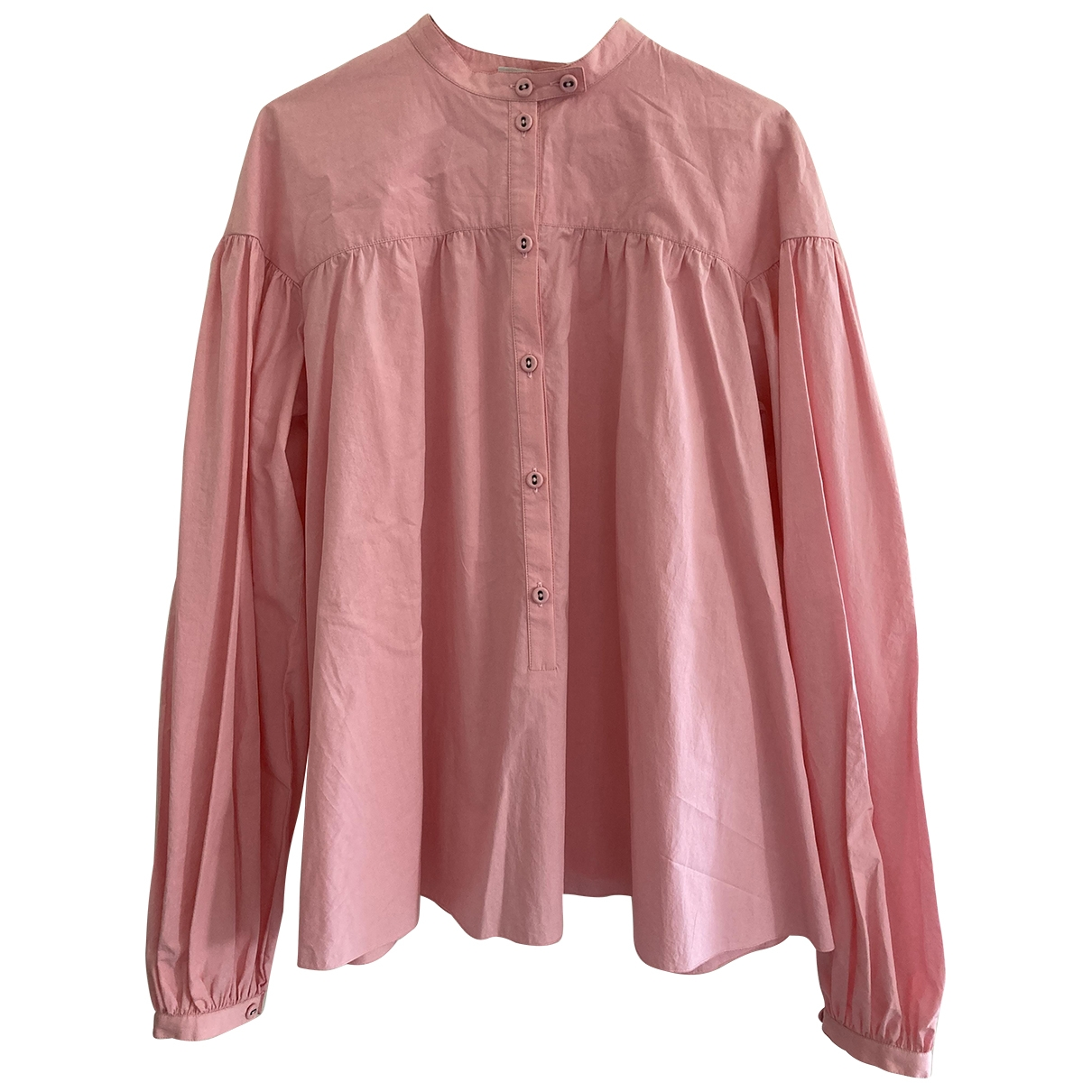 Non Signe / Unsigned \N Top in  Rosa Baumwolle