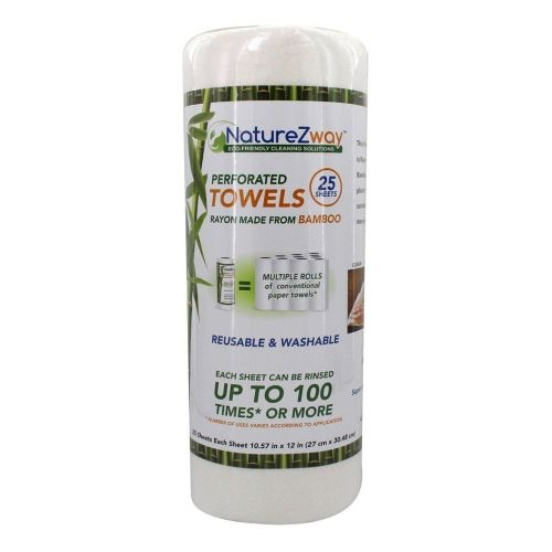 Bamboo Perforated Towel 25 Sheet 1 Count by Naturezway