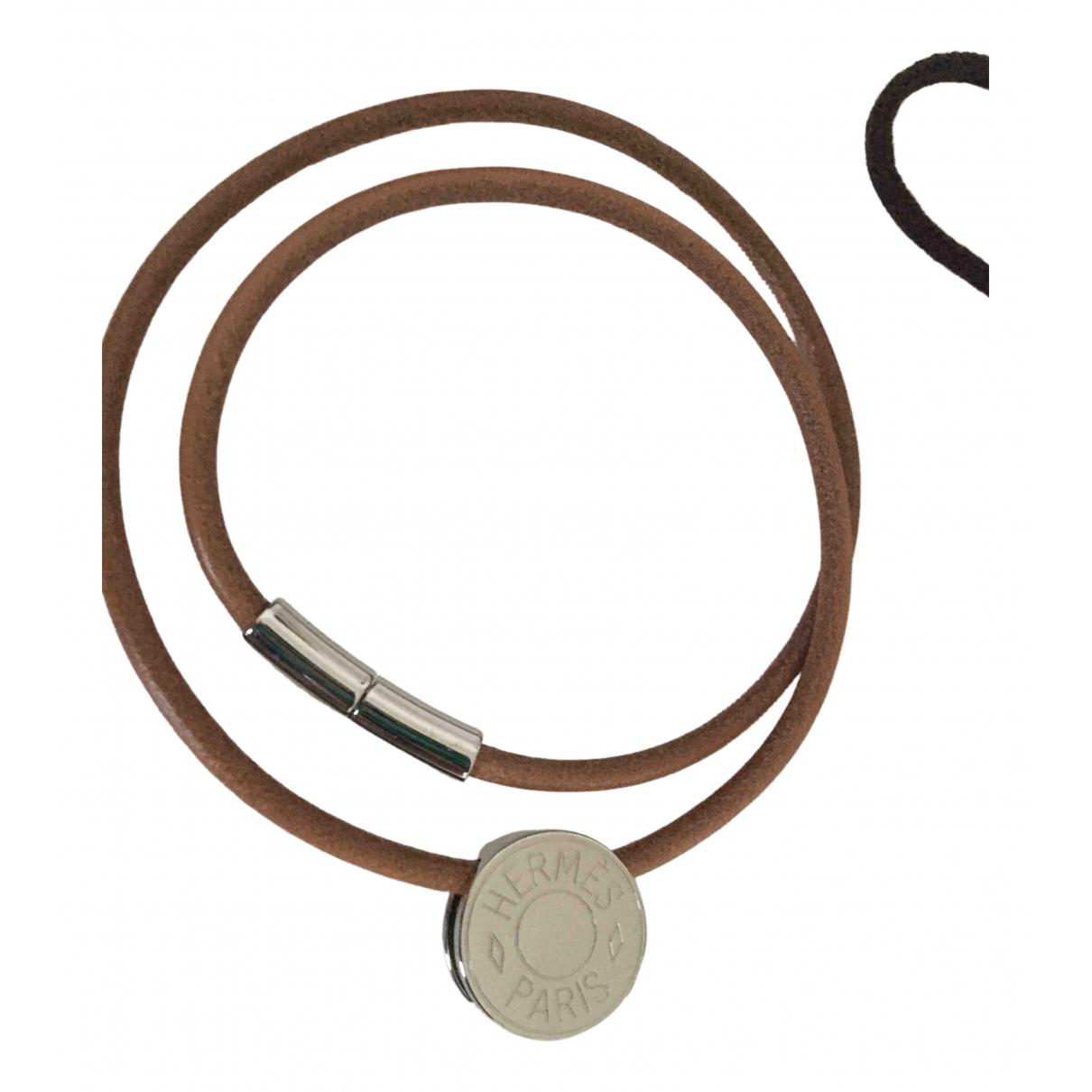 Hermes - Collier Clou de Selle pour femme en argent - gris