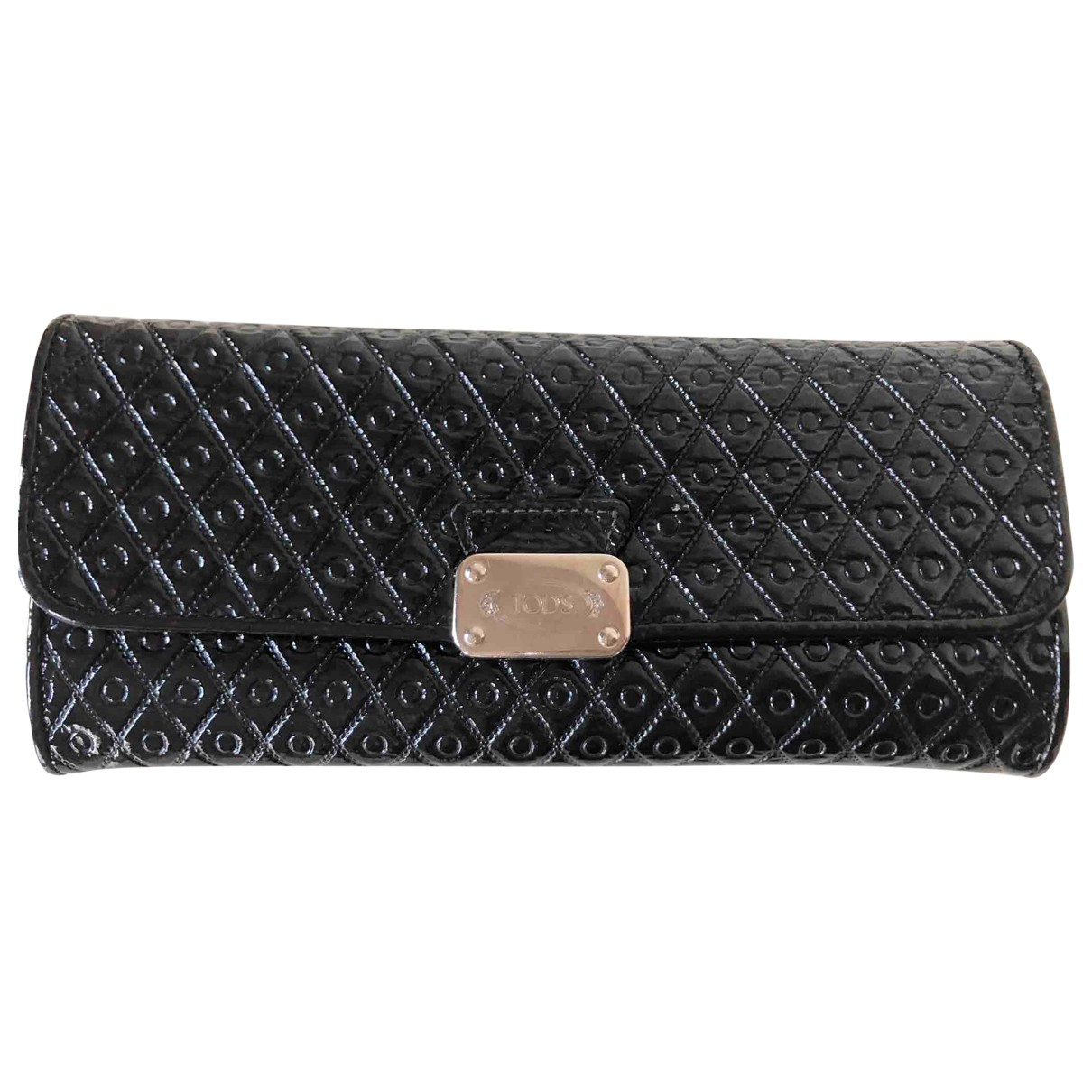 Tods - Portefeuille   pour femme en cuir verni - noir