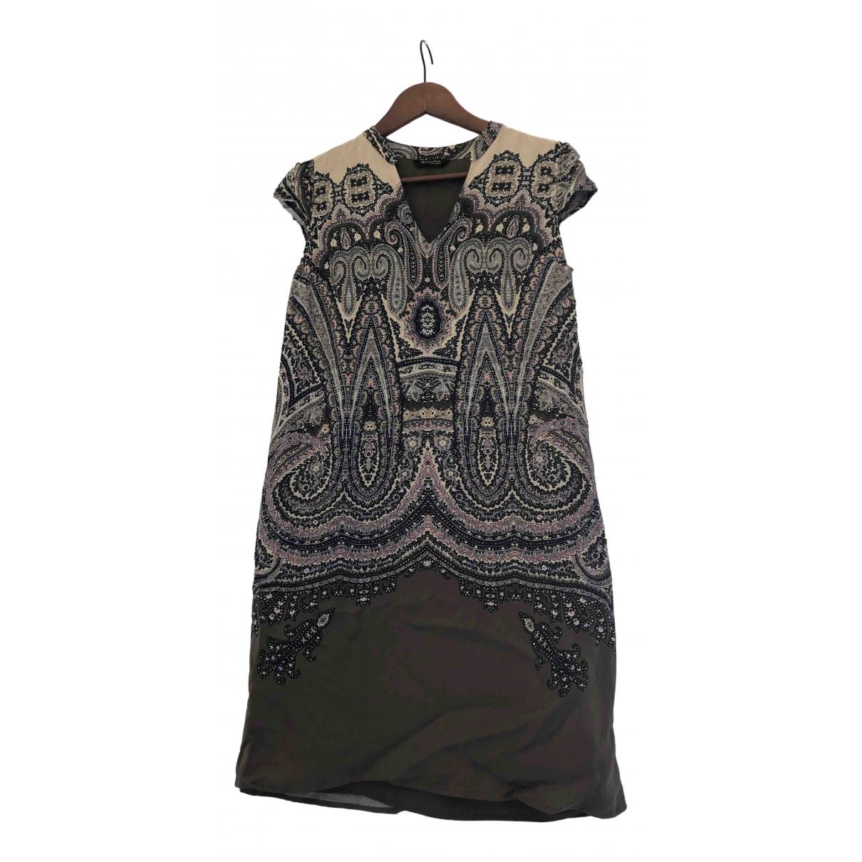 Massimo Dutti \N Kleid in  Khaki Polyester