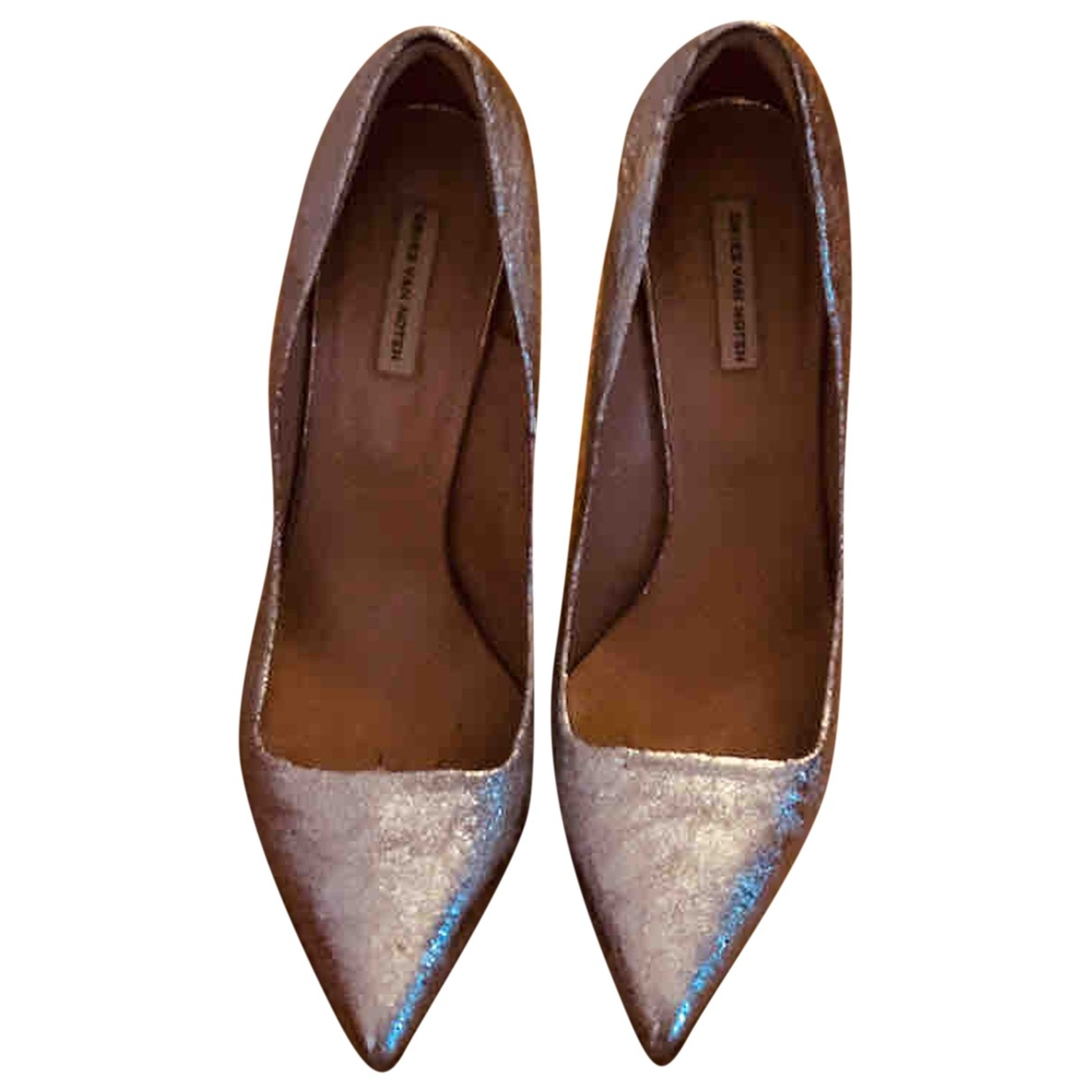 Dries Van Noten \N Pumps in  Silber Mit Pailletten