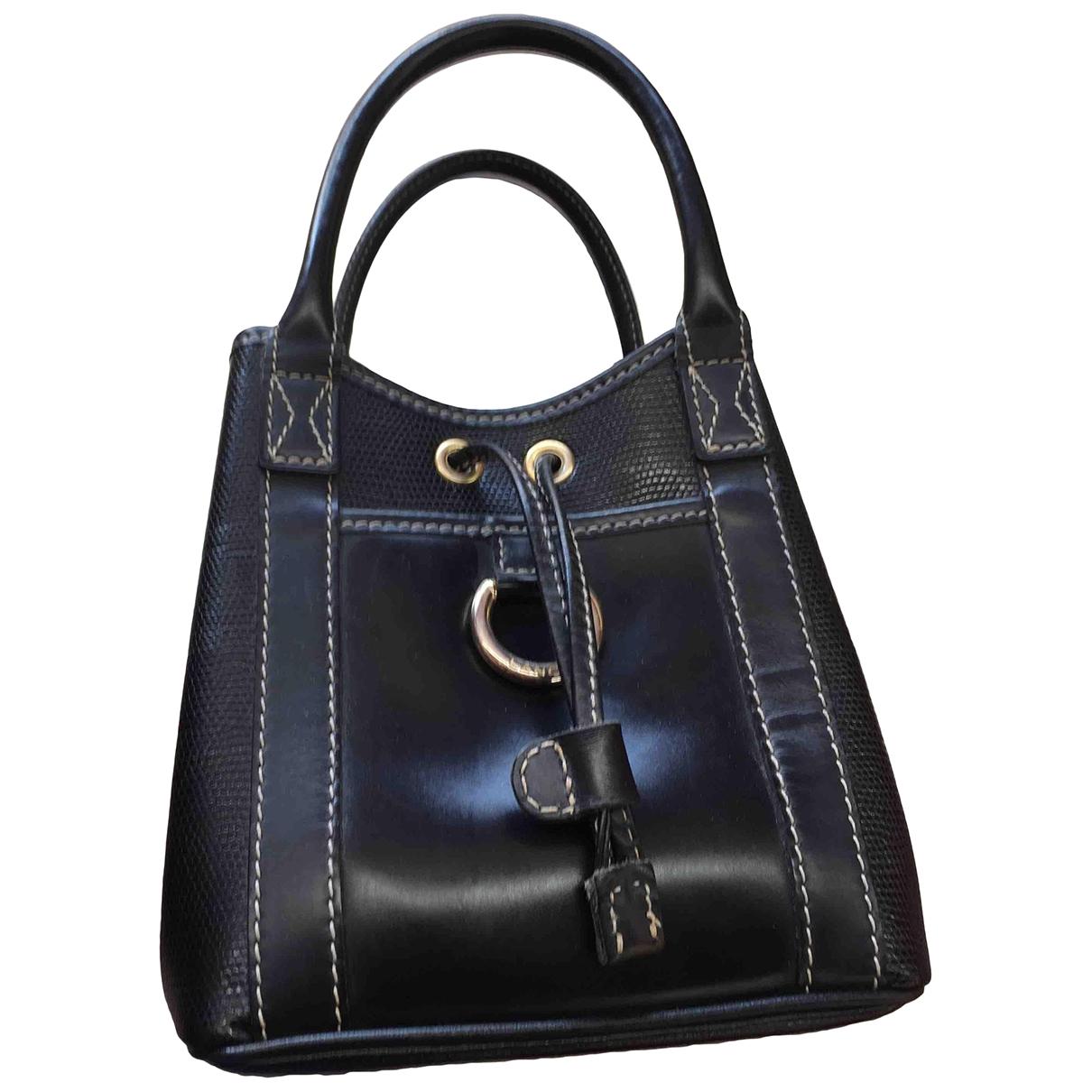 Lancel \N Black Patent leather handbag for Women \N