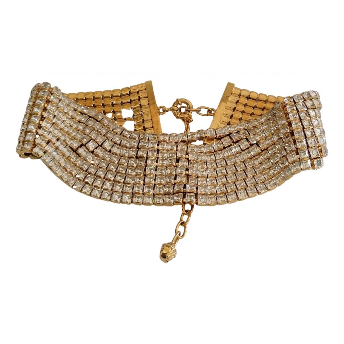 Versace - Collier   pour femme en metal - dore