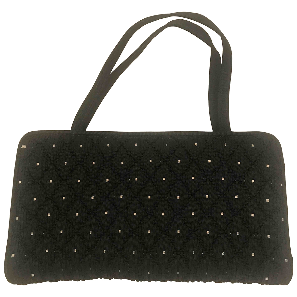 Non Signé / Unsigned \N Black Silk handbag for Women \N