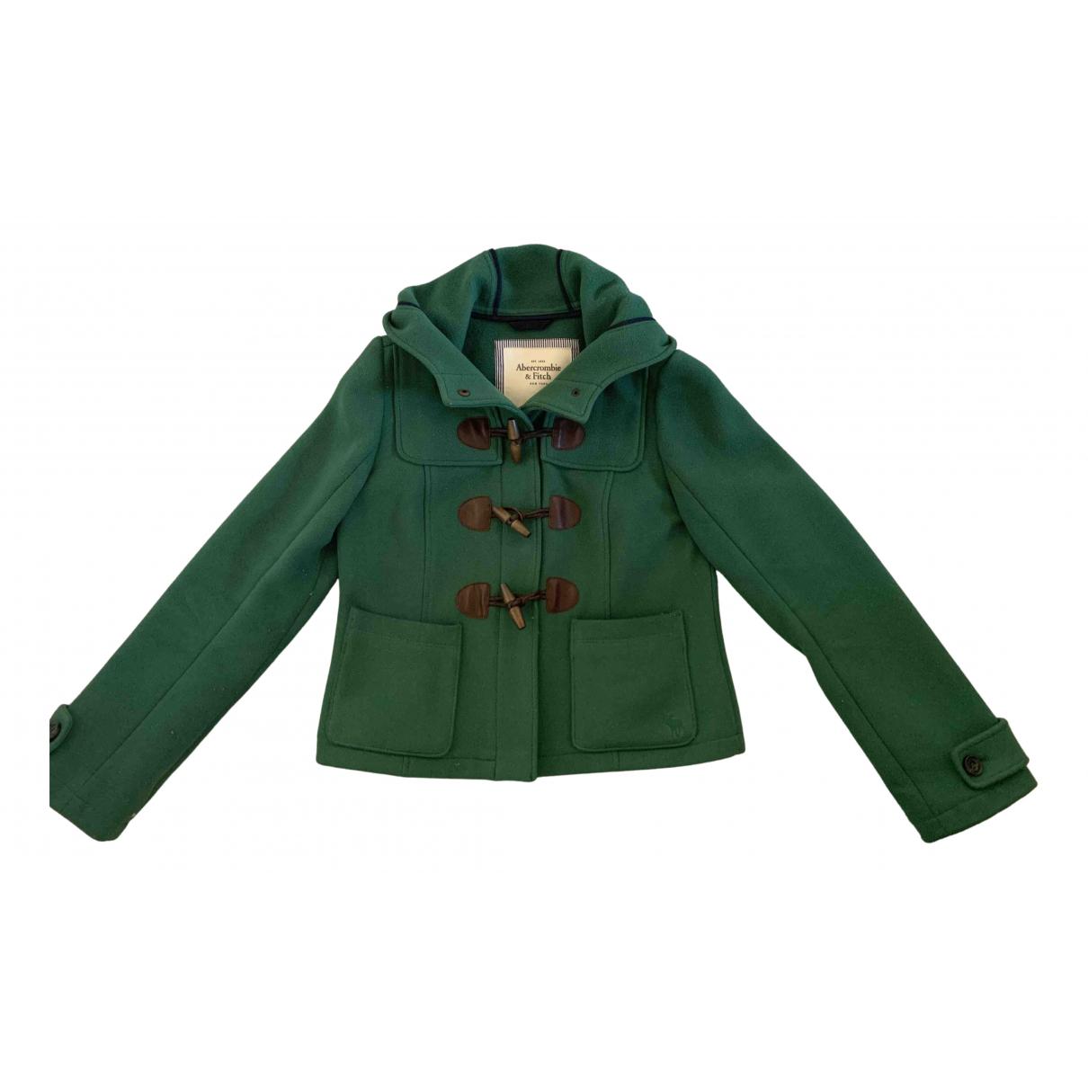 Abercrombie & Fitch N Green Wool coat for Women L International