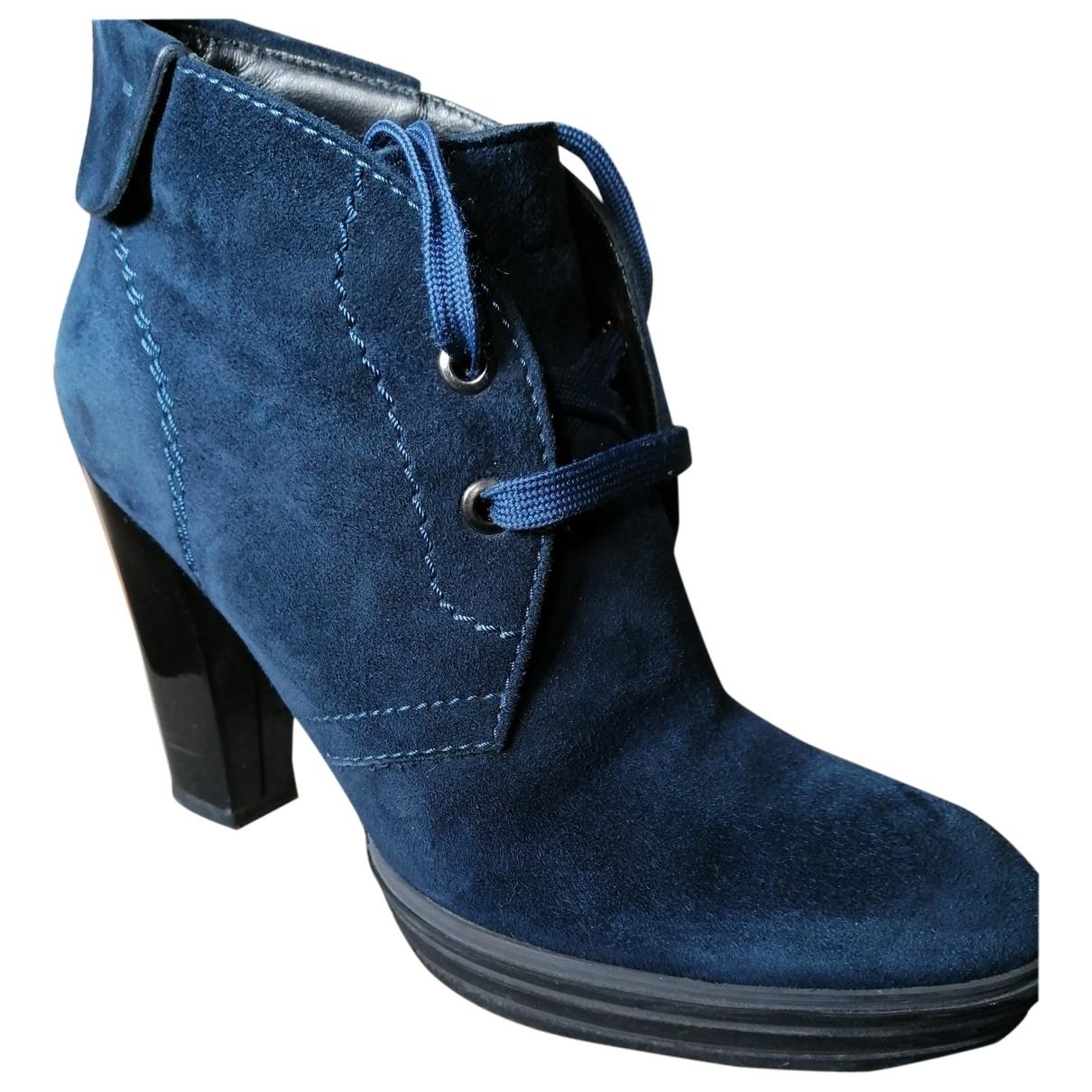 Hogan \N Stiefeletten in  Blau Leder