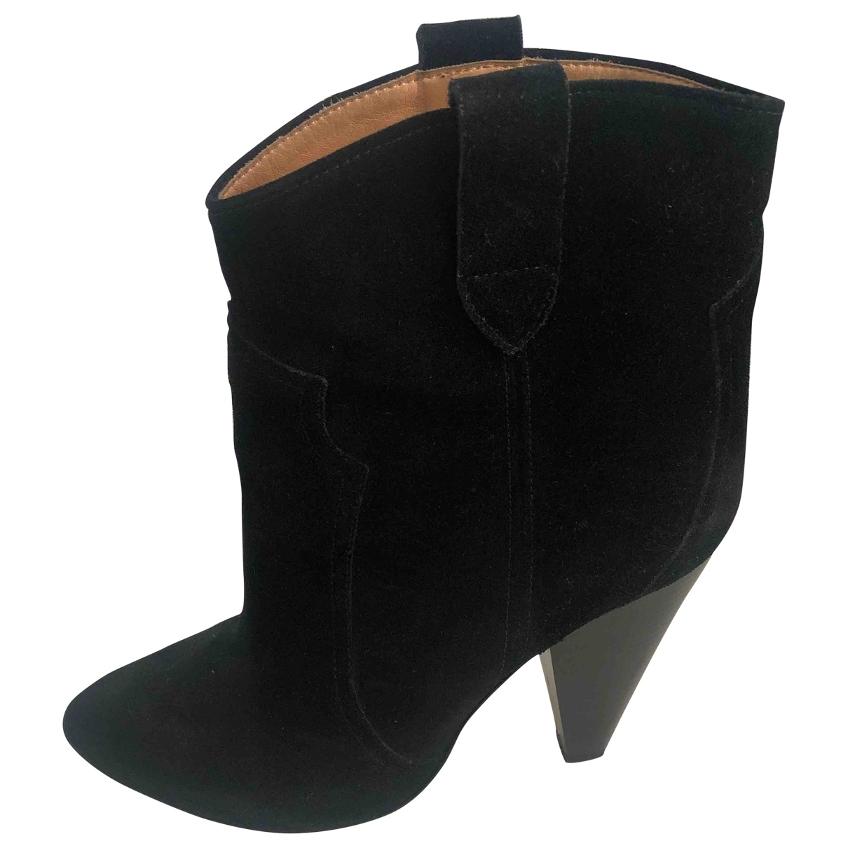 Isabel Marant \N Black Suede Ankle boots for Women 39 EU