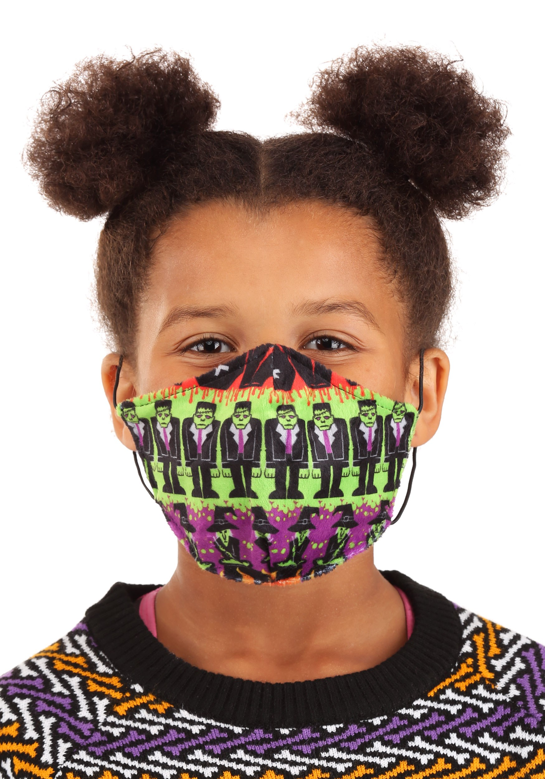 Monsters Sublimated Kids Face Mask