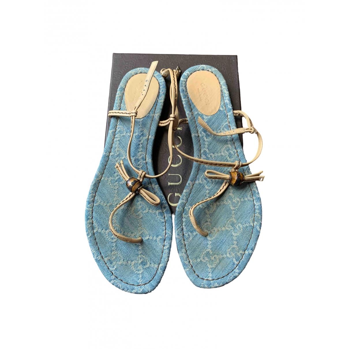 Gucci \N Sandalen in  Blau Leder