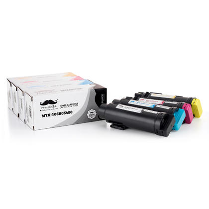 Xerox 106R03480 106R03477 106R03478 106R03479 Compatible Toner Cartridge High Yield - Moustache®