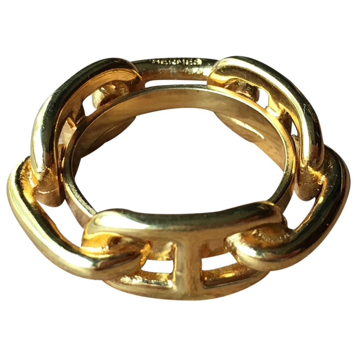 Hermes Anneau de Foulard Schal Gold