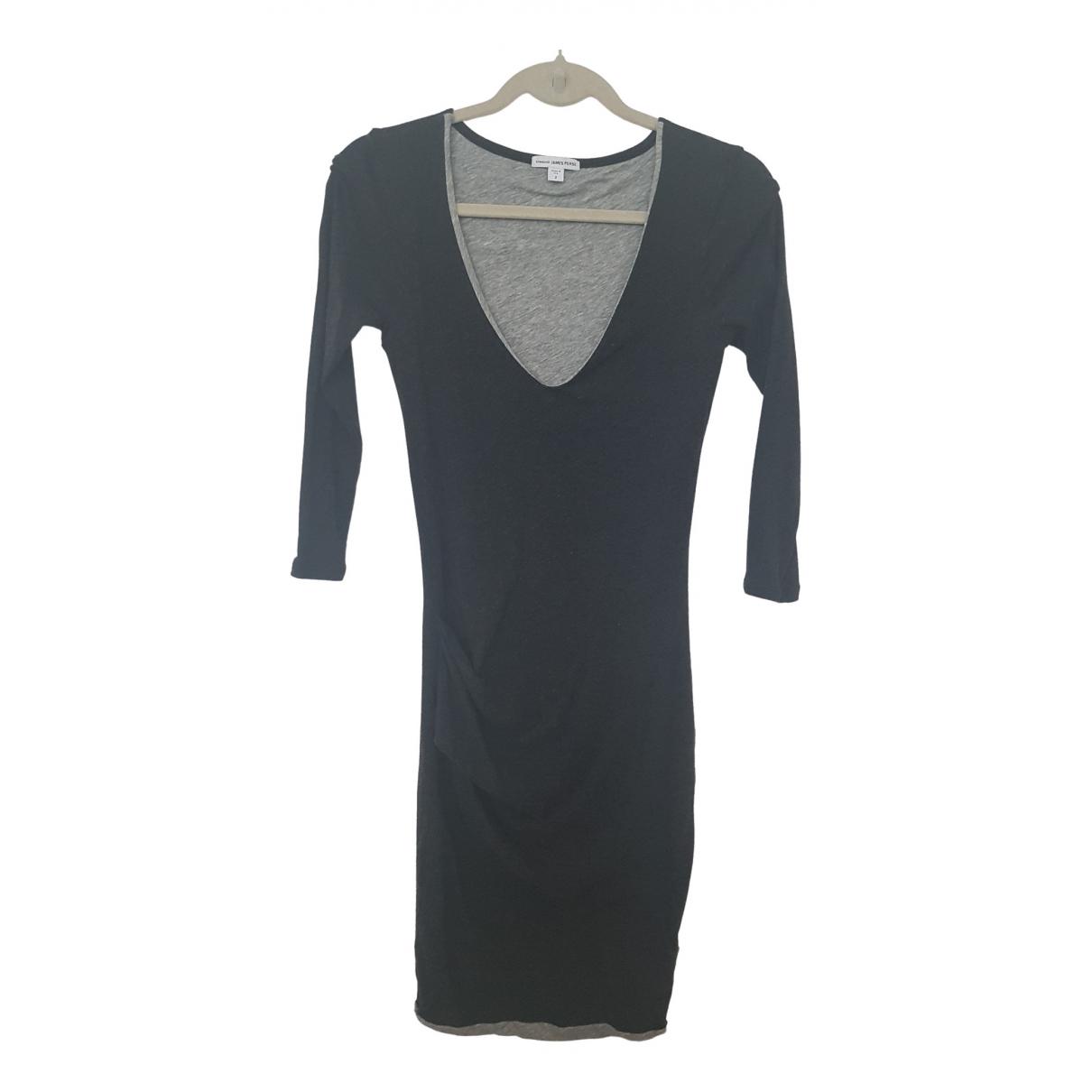 James Perse \N Kleid in  Anthrazit Baumwolle