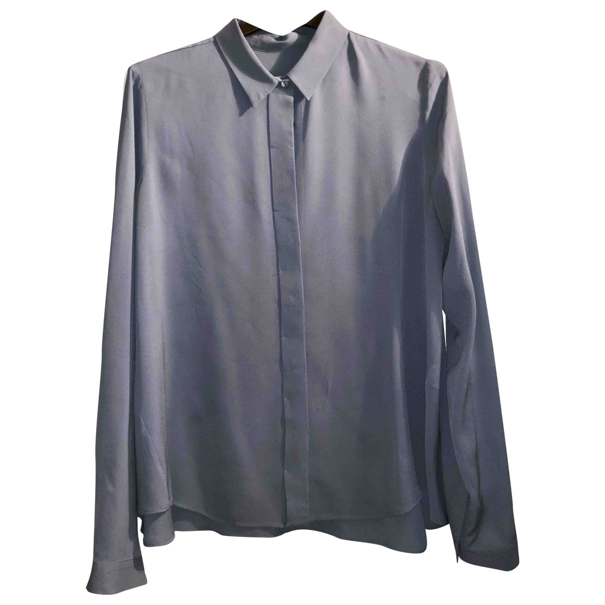 Non Signé / Unsigned \N Blue Silk  top for Women 38 FR