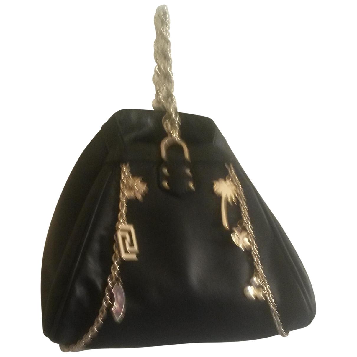 Versace X H&m - Sac a main   pour femme en cuir - noir