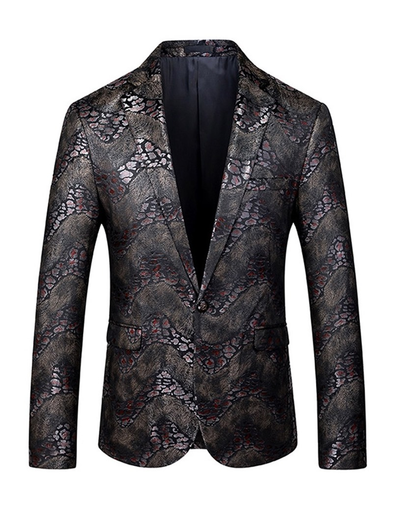 Ericdress Color Block Button Fashion leisure Men's Suit