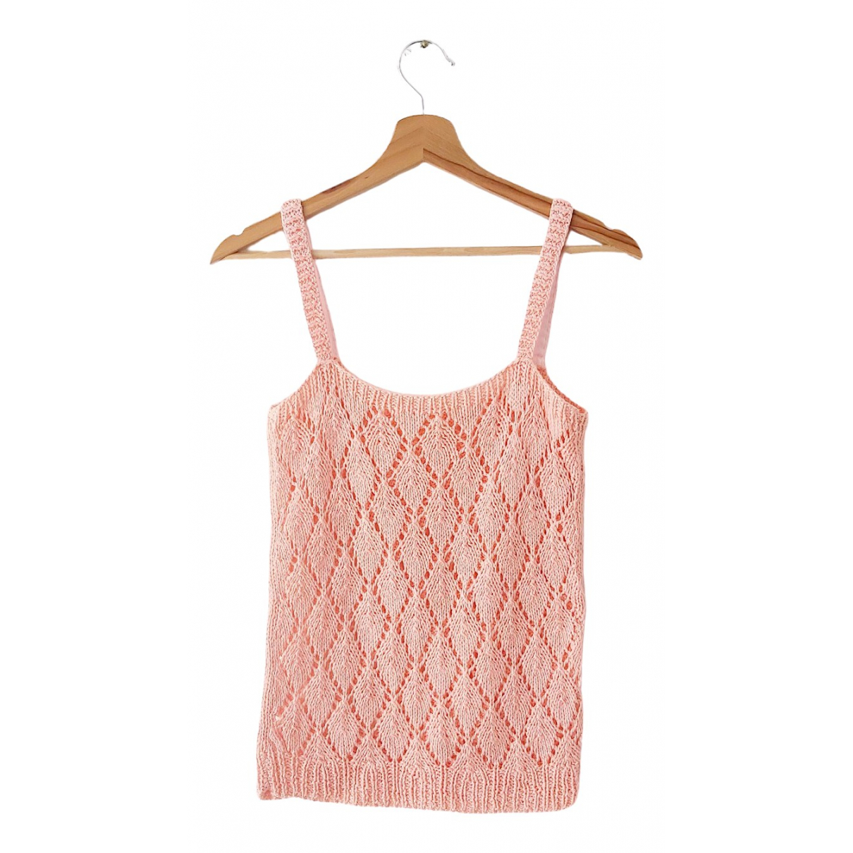 Non Signe / Unsigned Hippie Chic Top in  Rosa Baumwolle