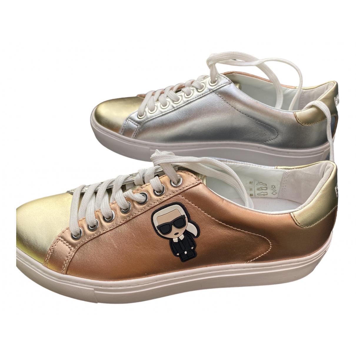 Karl \N Sneakers in  Gold Leder