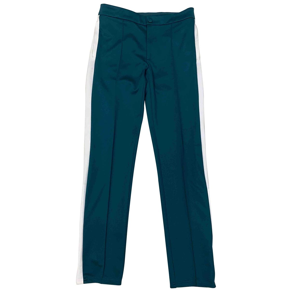 Pantalones en Poliester Verde Valentino Garavani