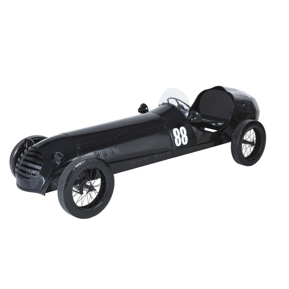 Auto aus schwarzem Metall mit Flaschenhalter L305