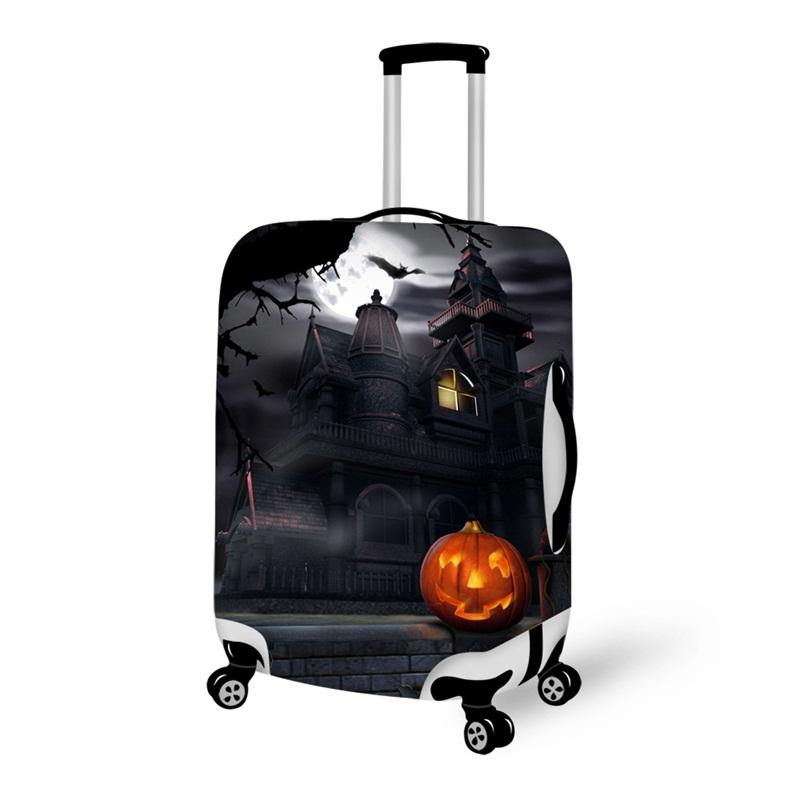 Horror Halloween Night Waterproof Suitcase Protector for 19 20 21