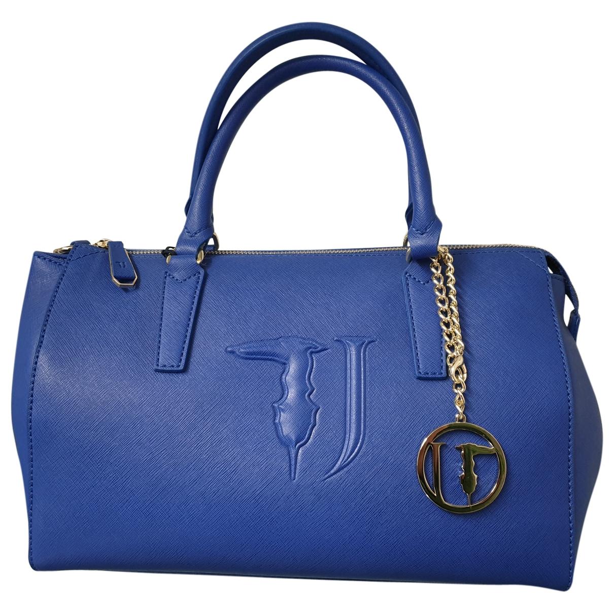 Trussardi Jeans \N Handtasche in  Blau Leder