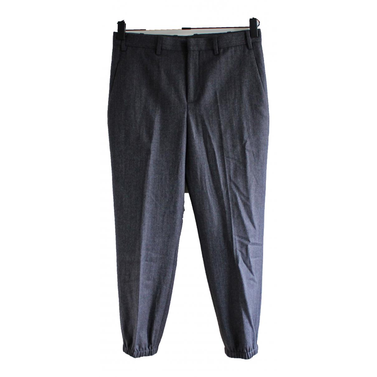 Neil Barrett \N Grey Wool Trousers for Men 48 IT