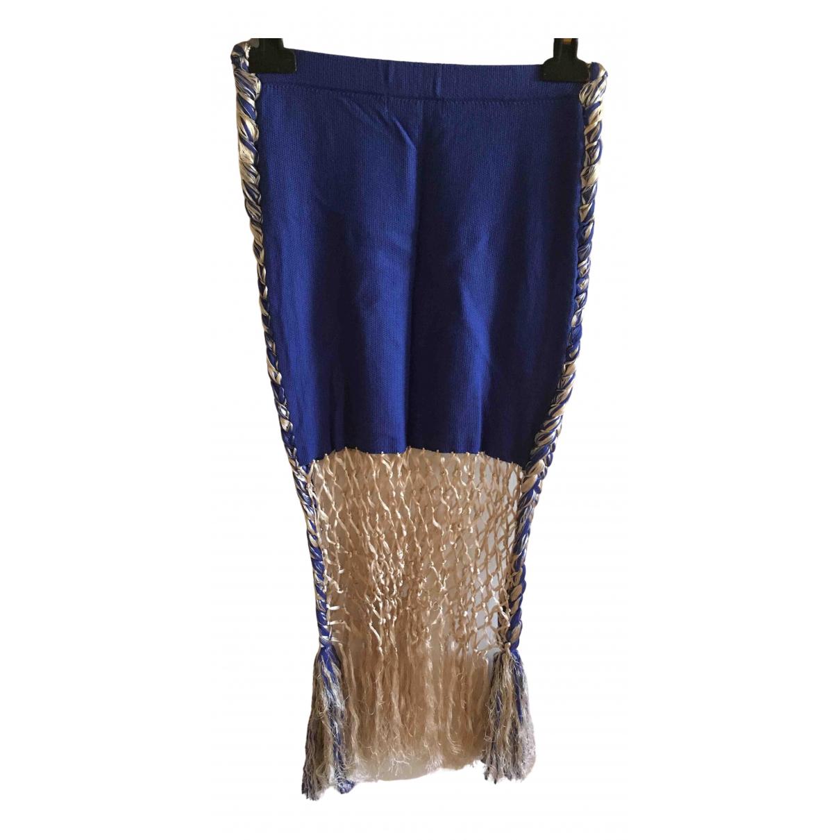 Opening Ceremony - Jupe   pour femme en coton - bleu