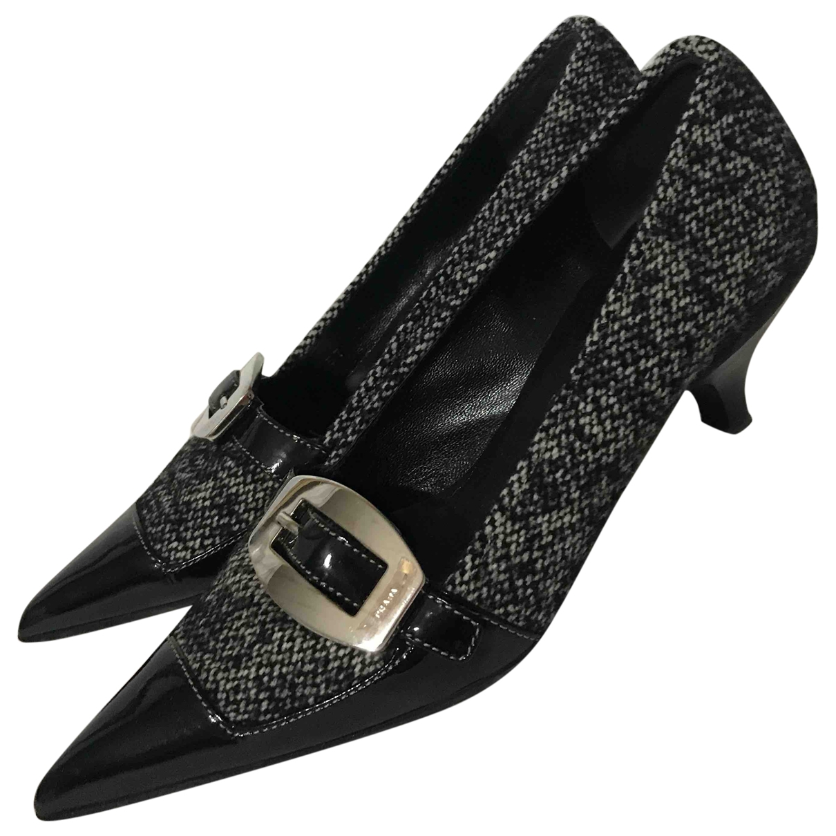Prada - Escarpins   pour femme en tweed - noir