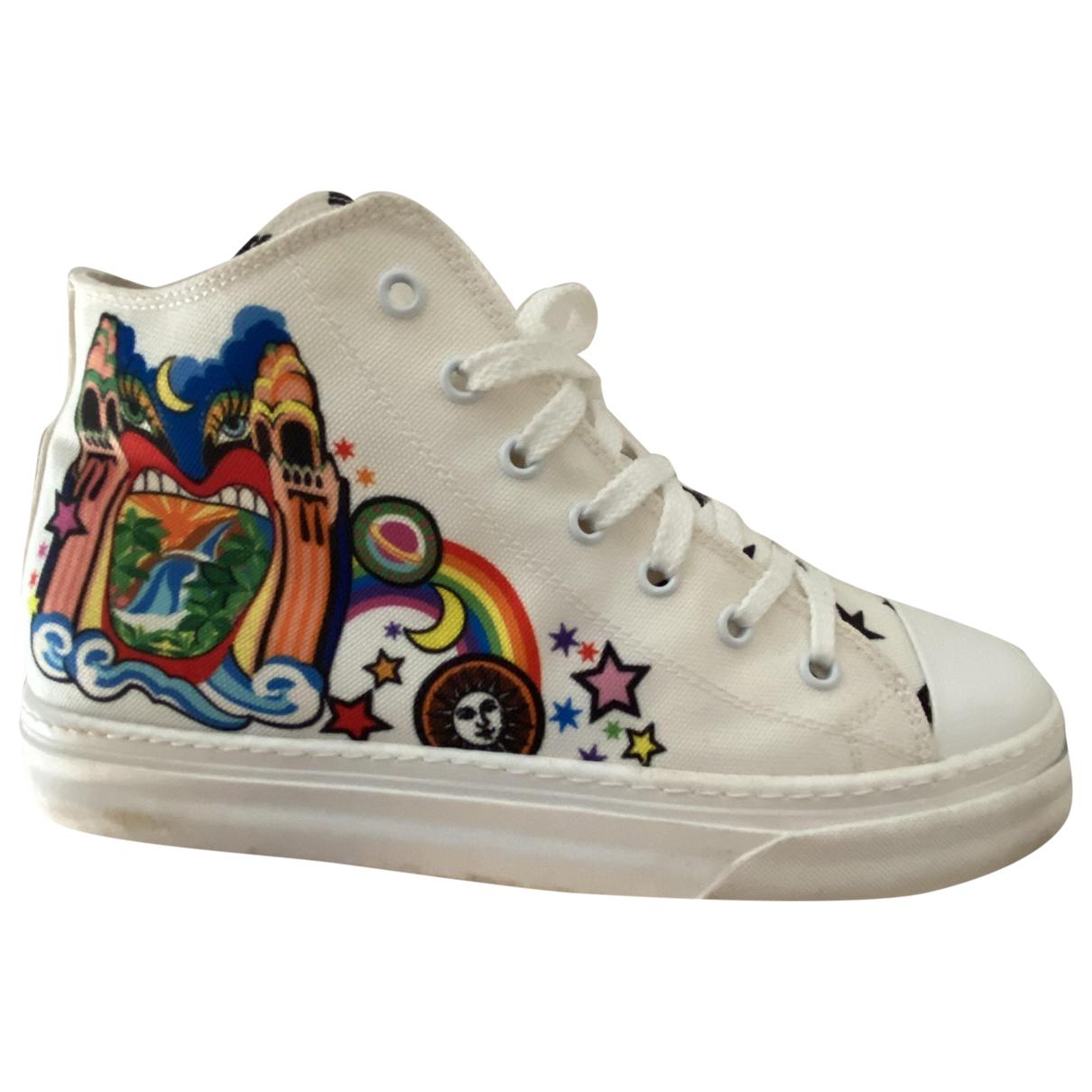 Just Cavalli \N Sneakers in  Weiss Leinen