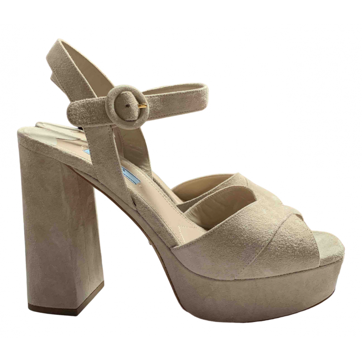Prada N Beige Suede Sandals for Women 39 EU