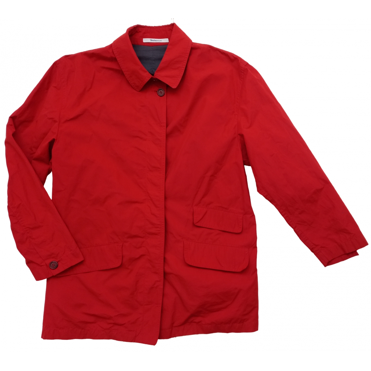 Burberry \N Jacke in  Rot Polyester