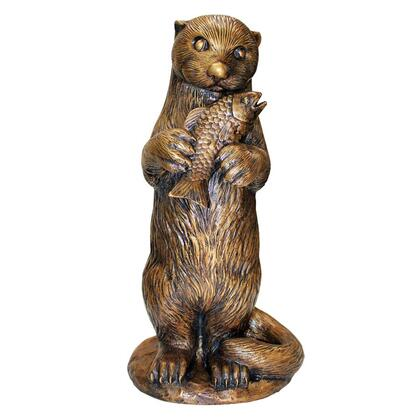 PN7383 Standing Otter With Fish Bronze