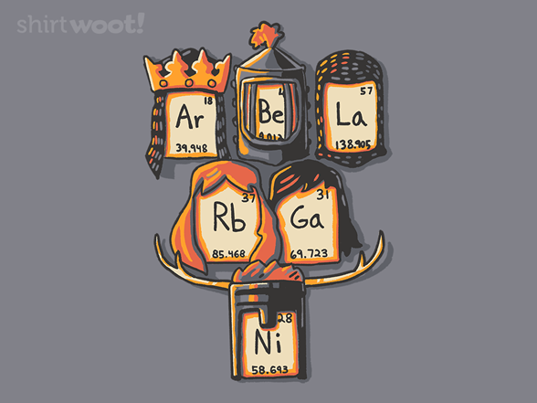 Knights Of The Periodic Table T Shirt