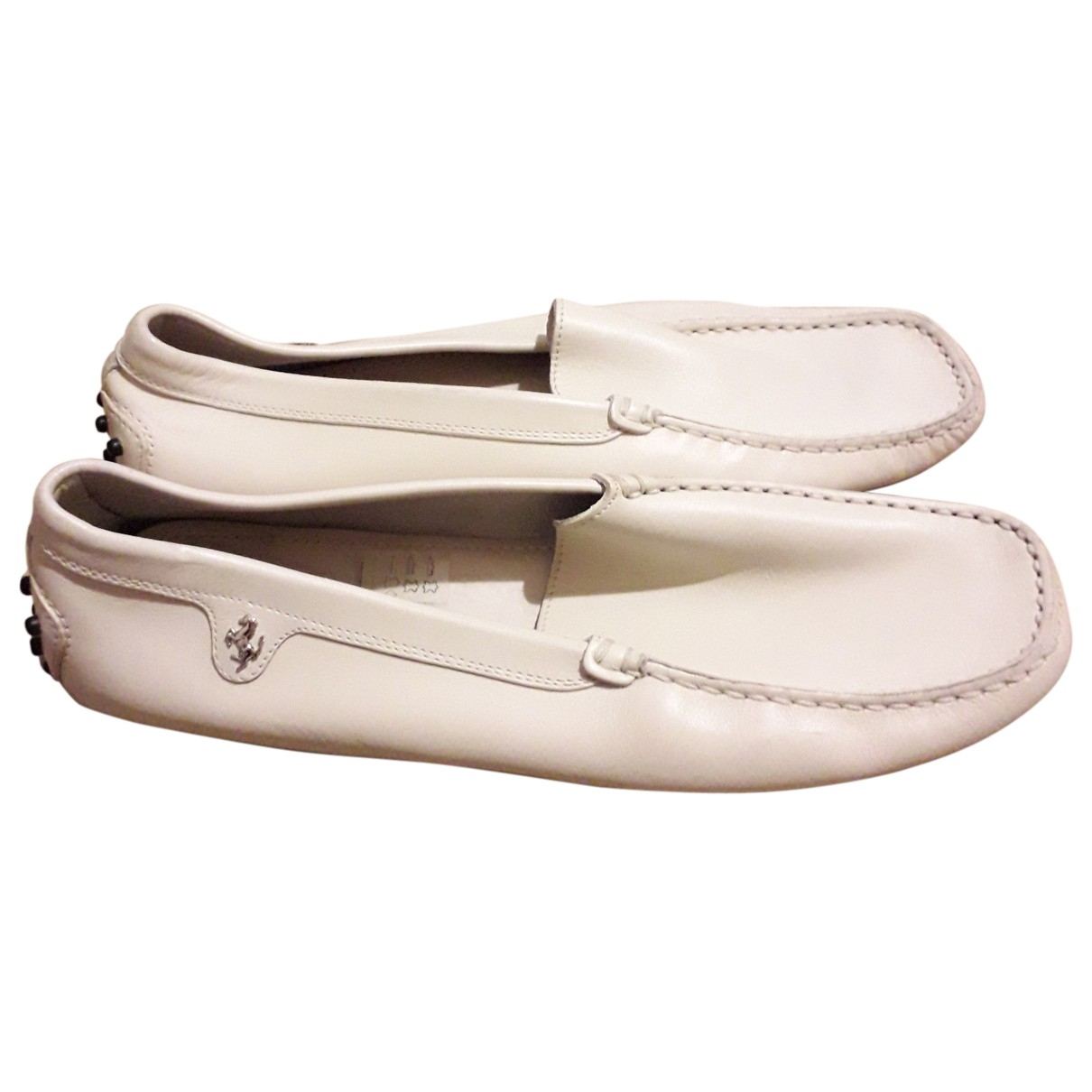 Tod's \N White Leather Flats for Men 10.5 US