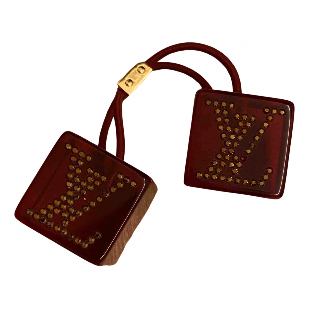 Louis Vuitton Monogram Burgundy Ceramic Hair accessories for Women N
