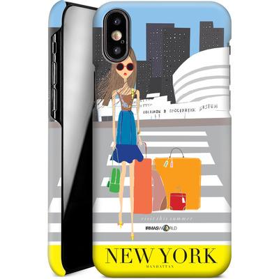 Apple iPhone X Smartphone Huelle - NEW YORK TRAVEL POSTER von IRMA