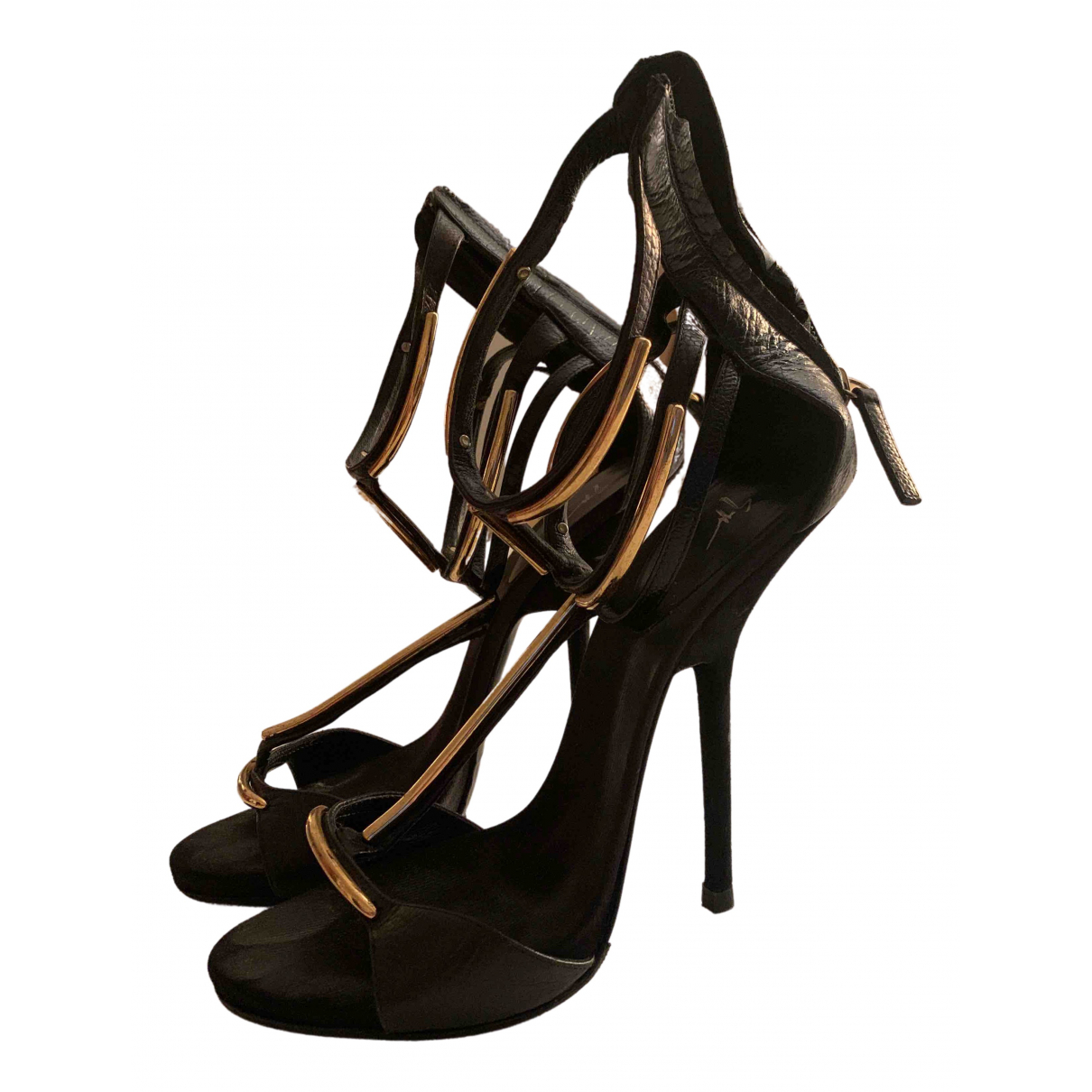 Giuseppe Zanotti \N Black Suede Sandals for Women 40 EU