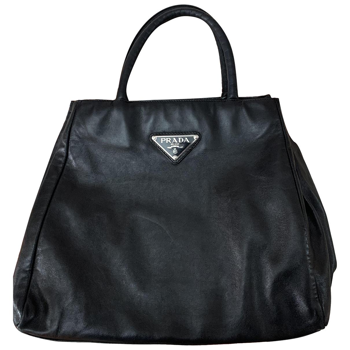 Prada N Black Leather handbag for Women N