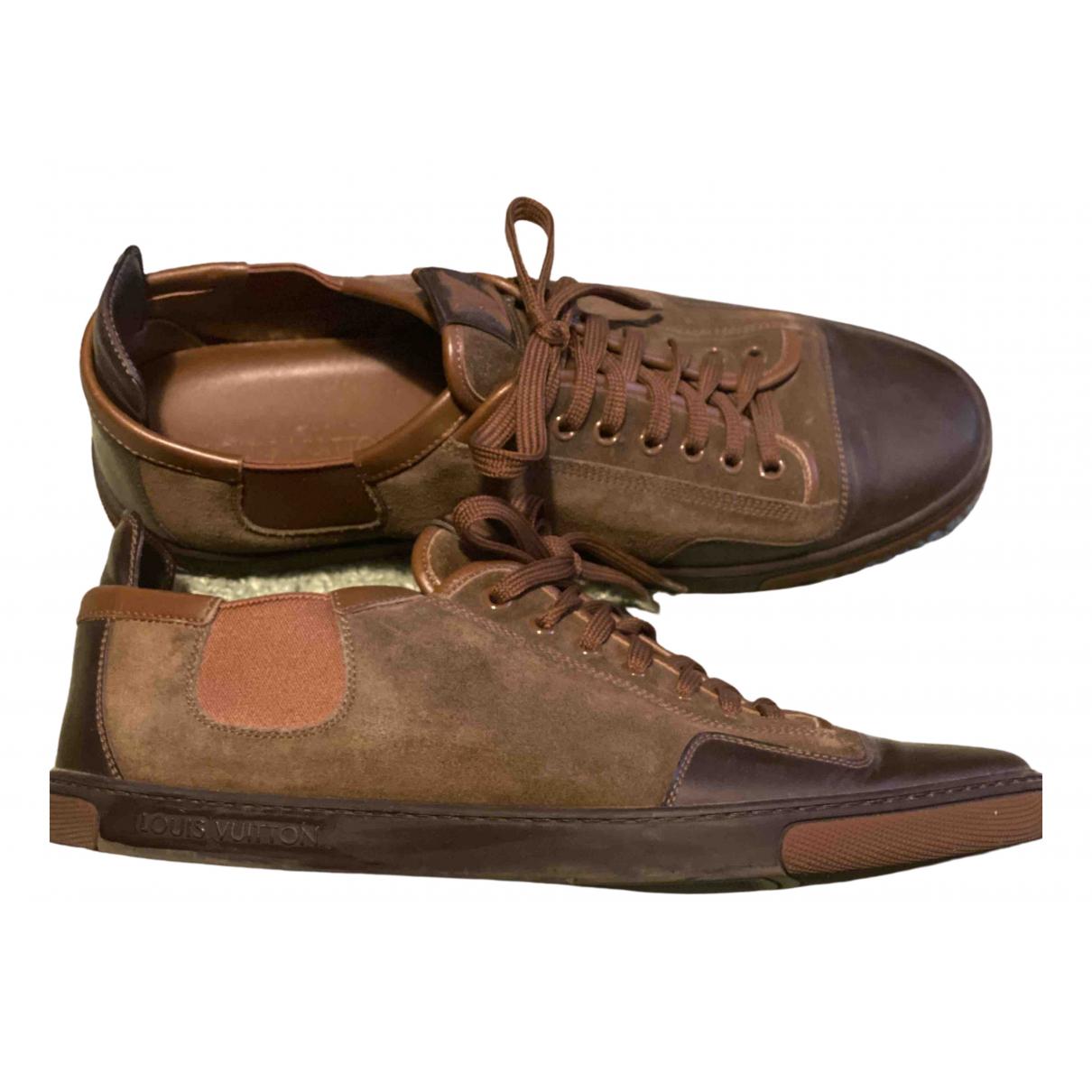 Louis Vuitton \N Sneakers in  Braun Leder