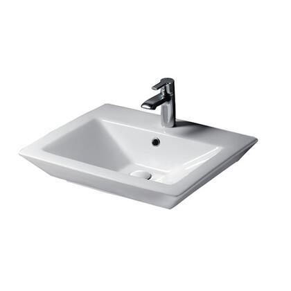 B/3-361WH Opulence Basin  White Rect. Bowl  1