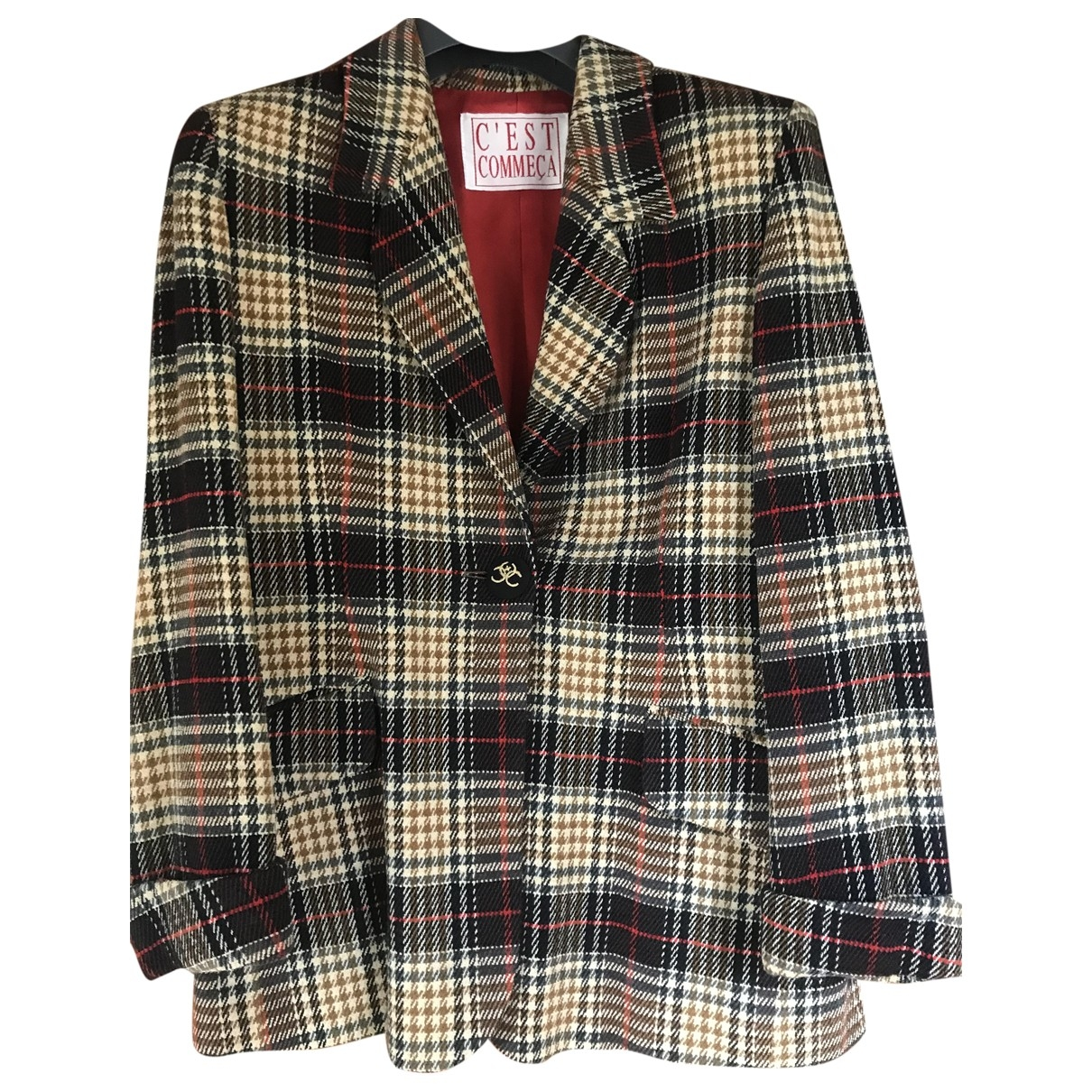 Non Signé / Unsigned \N Black Wool jacket for Women 42 FR