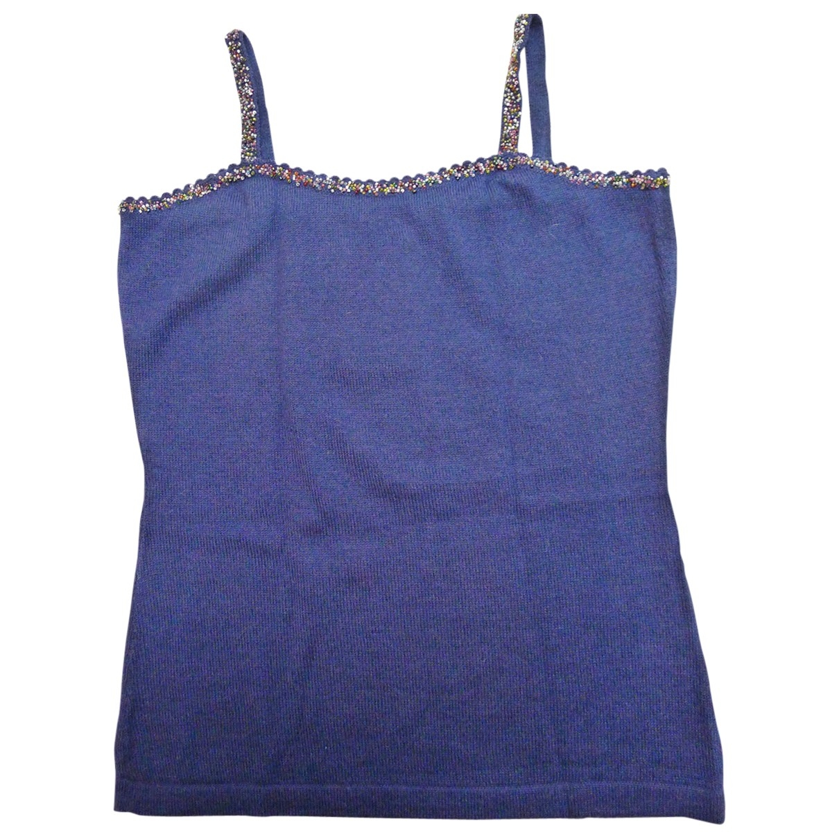 Non Signé / Unsigned \N Blue Wool  top for Women XL International