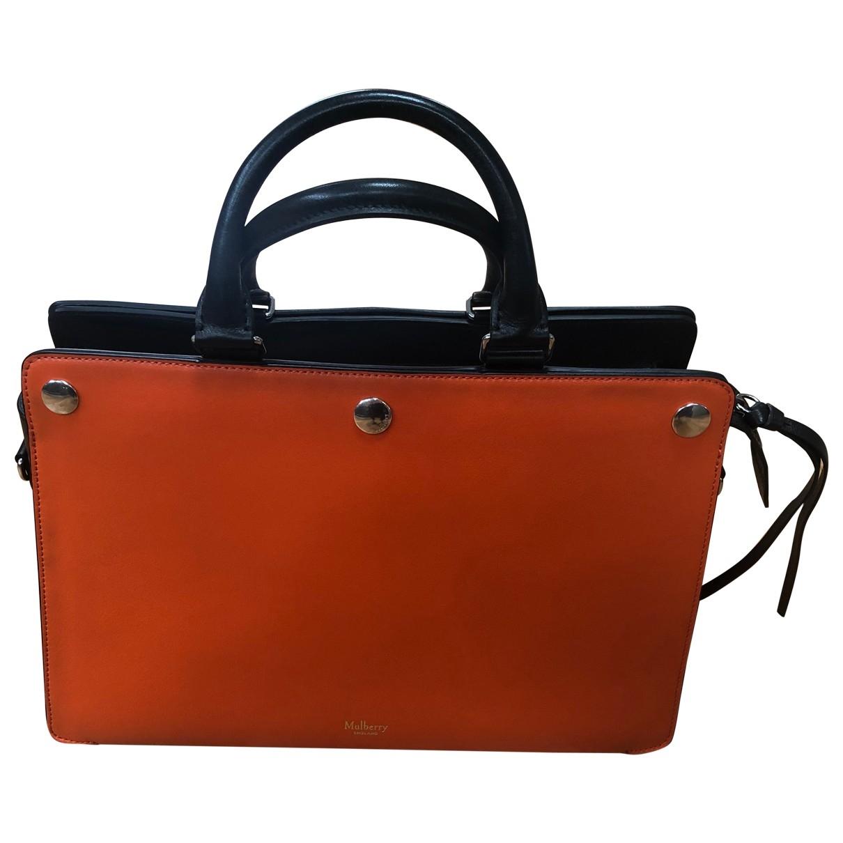 Mulberry - Sac a main   pour femme en cuir - orange