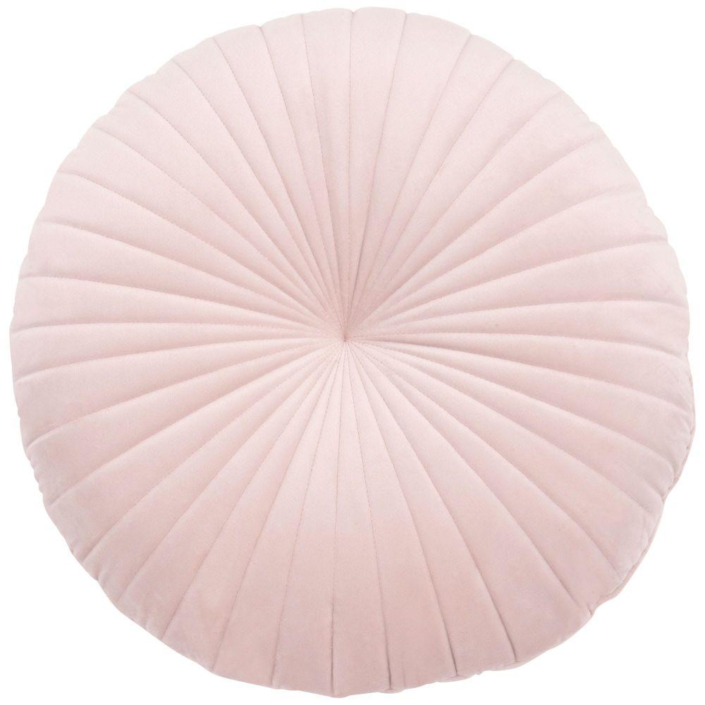 Rundes Kissen aus Samt, rosa D38